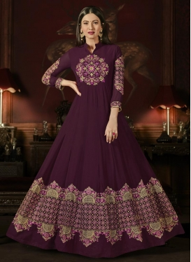 Gauhar Khan Faux Georgette Long Length Anarkali Salwar Suit