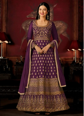 Gauhar Khan Faux Georgette Long Length Anarkali Suit