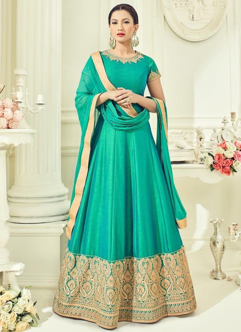 Gauhar Khan Floor Length Anarkali Suit For Ceremonial