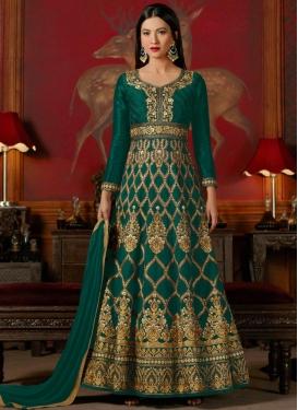 Gauhar Khan Long Length Anarkali Salwar Suit