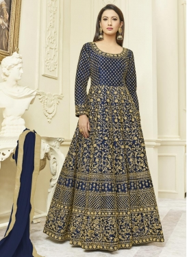 Gauhar Khan Long Length Anarkali Suit