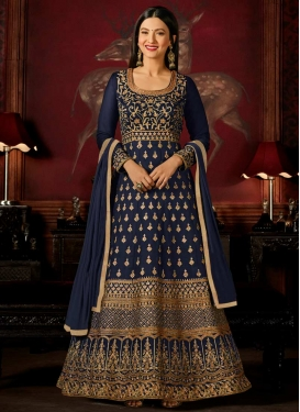 Gauhar Khan Long Length Designer Anarkali Suit For Festival