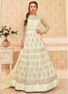 Gauhar Khan Net Long Length Designer Anarkali Suit For Ceremonial