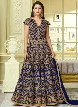 Gauhar Khan Tafeta Silk Embroidered Work Anarkali Salwar Suit