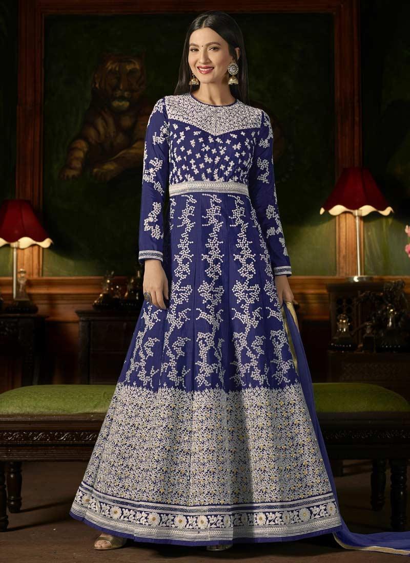Gauhar Khan Trendy Anarkali Suit For Ceremonial
