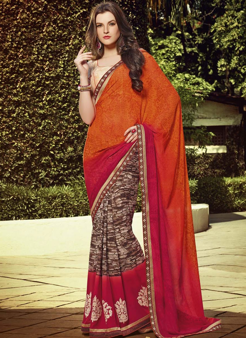 Genius Booti And Lace Work Casual Saree