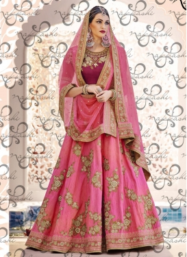 Genius  Embroidered Work Silk Trendy A Line Lehenga Choli
