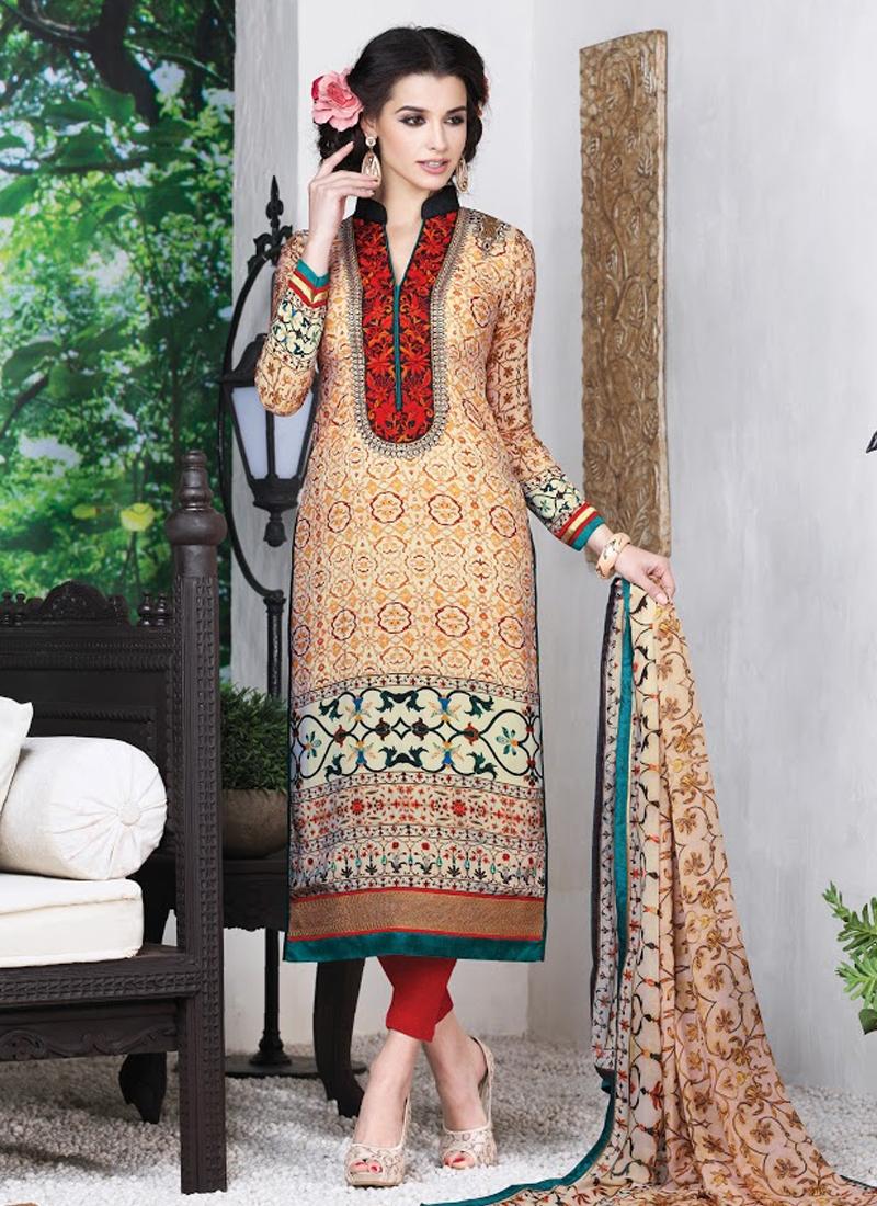 Genius Karachi Work Pant Style Pakistani Suit