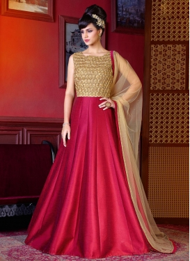 Genius  Resham Work Long Length Anarkali Salwar Suit