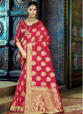 Genius Thread Work Art Silk Traditional Saree