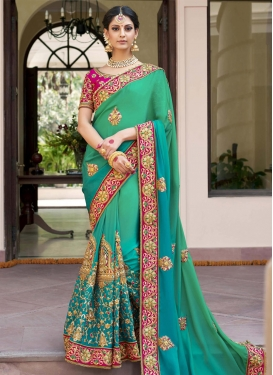 Georgette Traditional Designer Saree For Bridal