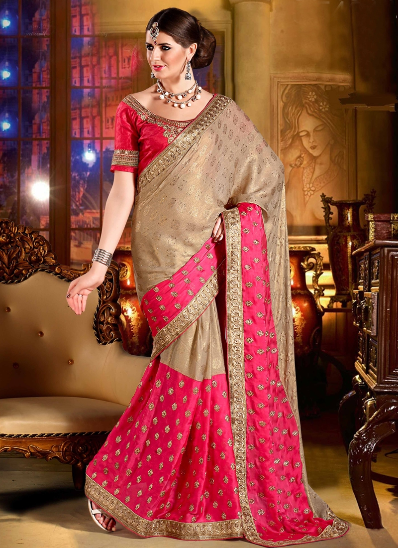 Gilded Stone Work Party Wear Saree