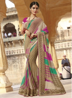Girlish  Designer Contemporary Style Saree