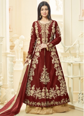 Girlish Embroidered Work Ayesha Takia Kameez Style Lehenga Choli