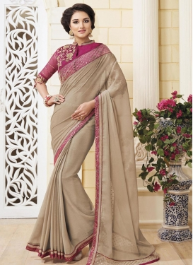 Girlish  Faux Chiffon Designer Contemporary Saree For Festival