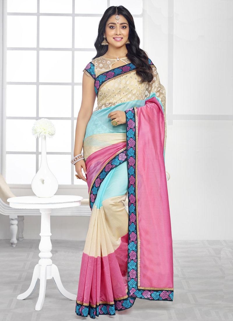 Girlish Organza Shriya Saran Party Wear Saree