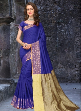 Girlish  Thread Work Trendy Saree