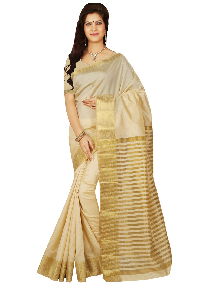 Glamorous Art Silk Resham Work Casual Saree