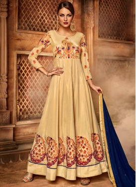 Glamorous Cream Floor Length Anarkali Suit