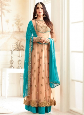 Glamorous  Embroidered Work Layered Designer Salwar Kameez