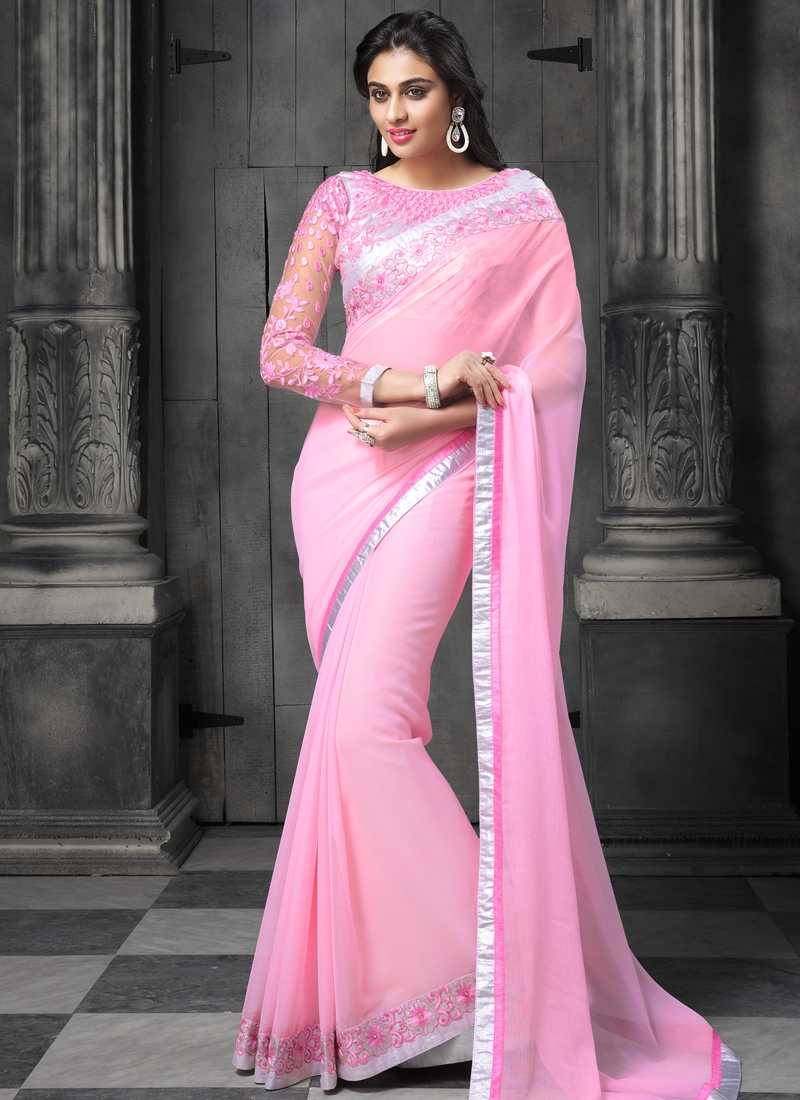 Glamorous Faux Chiffon Party Wear Saree