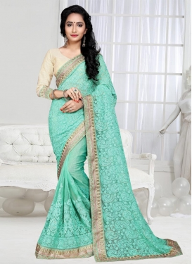 Glamorous Shimmer Georgette Contemporary Saree