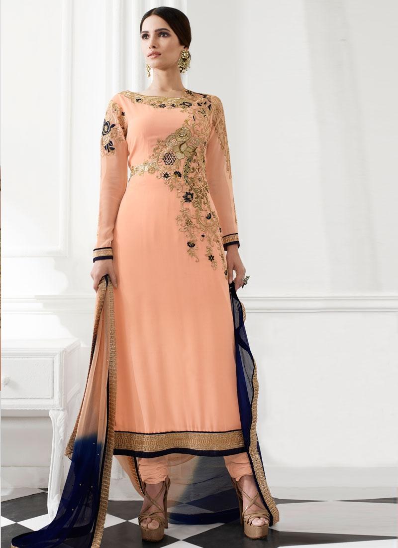 Glamorous Stone And Resham Work Pakistani Salwar Suit