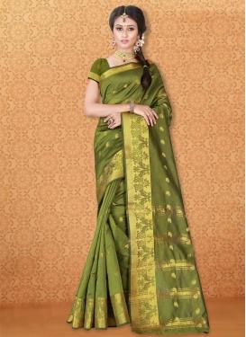 Gleaming Banarasi Silk Classic Saree