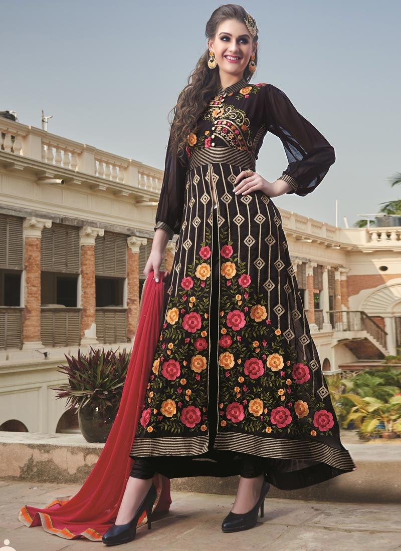 Gleaming Embroidery Work Designer Suit