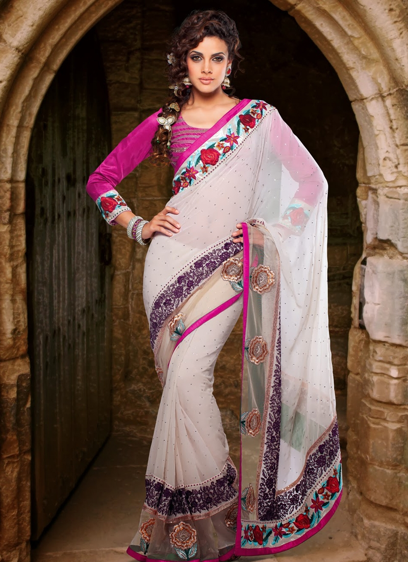 Gleaming Georgette Party Wear Saree