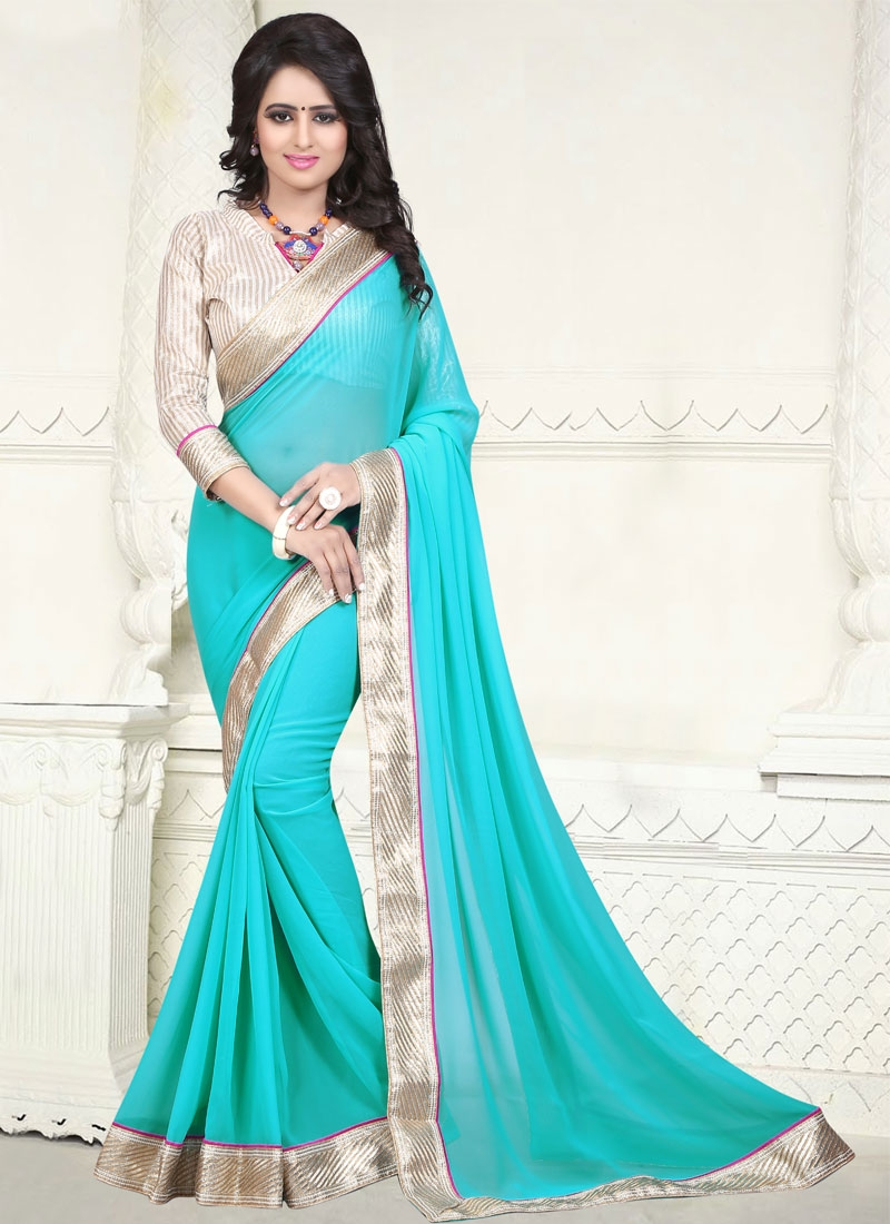 Gleaming Lace Work Casual Saree