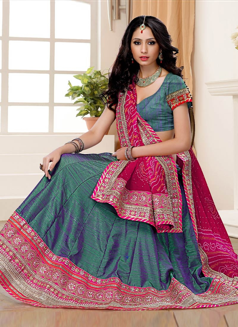 Gleaming Patch Border Work Designer Lehenga Choli