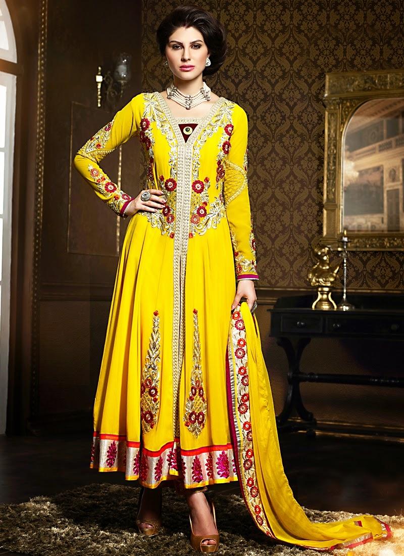 Gleaming Yellow Color Booti Work Designer Salwar Suit