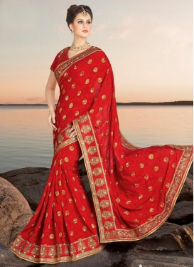Glitzy  Booti Work Contemporary Saree