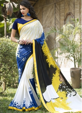 Glitzy  Digital Print Work Classic Saree