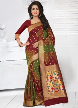 Glorious Banarasi Silk Trendy Classic Saree