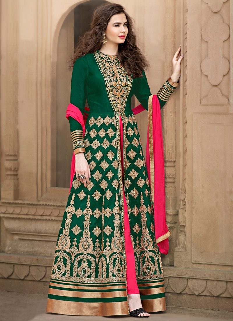 Glorious Banglori Silk Floor Length Designer Salwar Suit