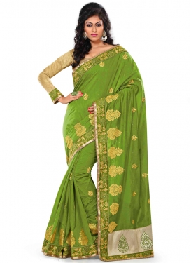 Glorious Beads And Lace Work Party Wear Saree