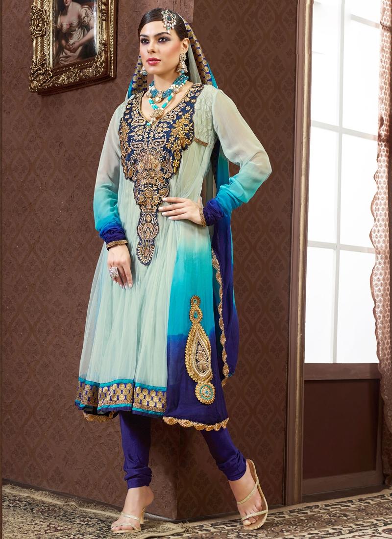 Glorious Booti Enhanced Party Wear Salwar Suit