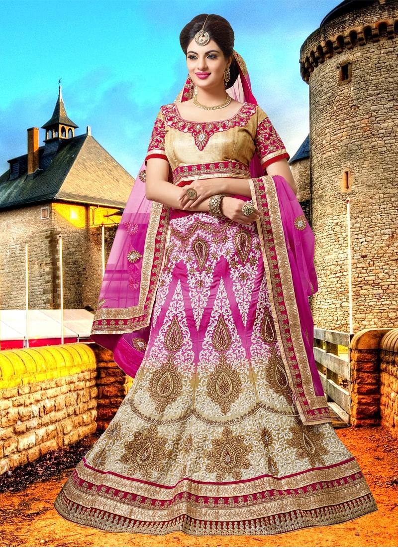 Glorious Booti Work Bridal Lehenga Choli