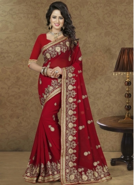 Glorious Faux Georgette Classic Saree