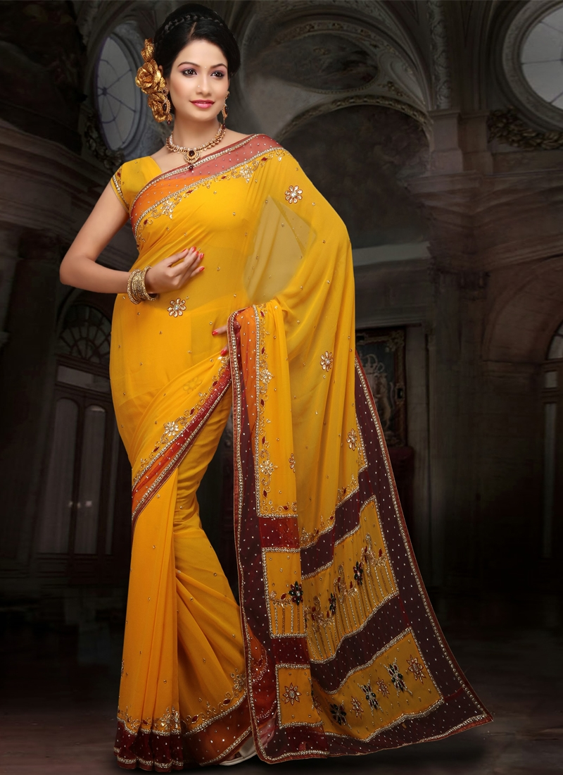 Glorious Faux Georgette Party Wear Saree