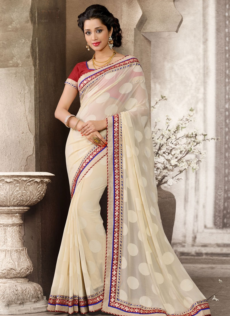 Glorious Georgette And Jacquard Casual Saree
