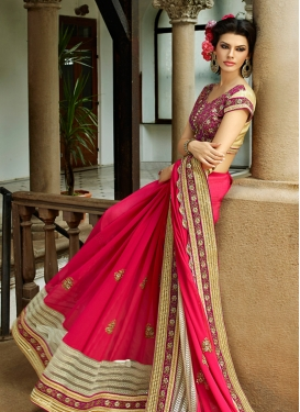 Glorious Sequins And Beads Work Wedding Saree