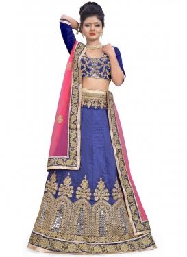 Glossy  Lace Work Designer Lehenga Choli