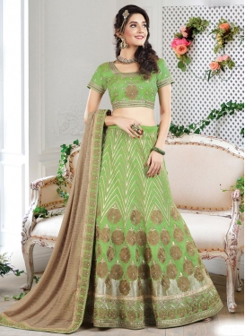 Glossy  Trendy A Line Lehenga Choli For Festival