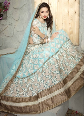 Glowing Patch Border And Resham Work Bridal Lehenga Choli