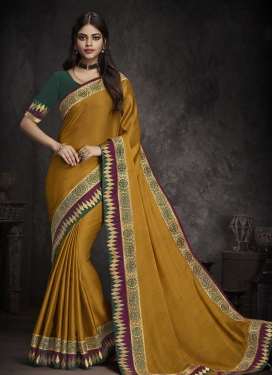 Gold and Green Traditional Saree
