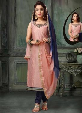 Gold Zardosi Work Readymade Churidar Salwar Suit