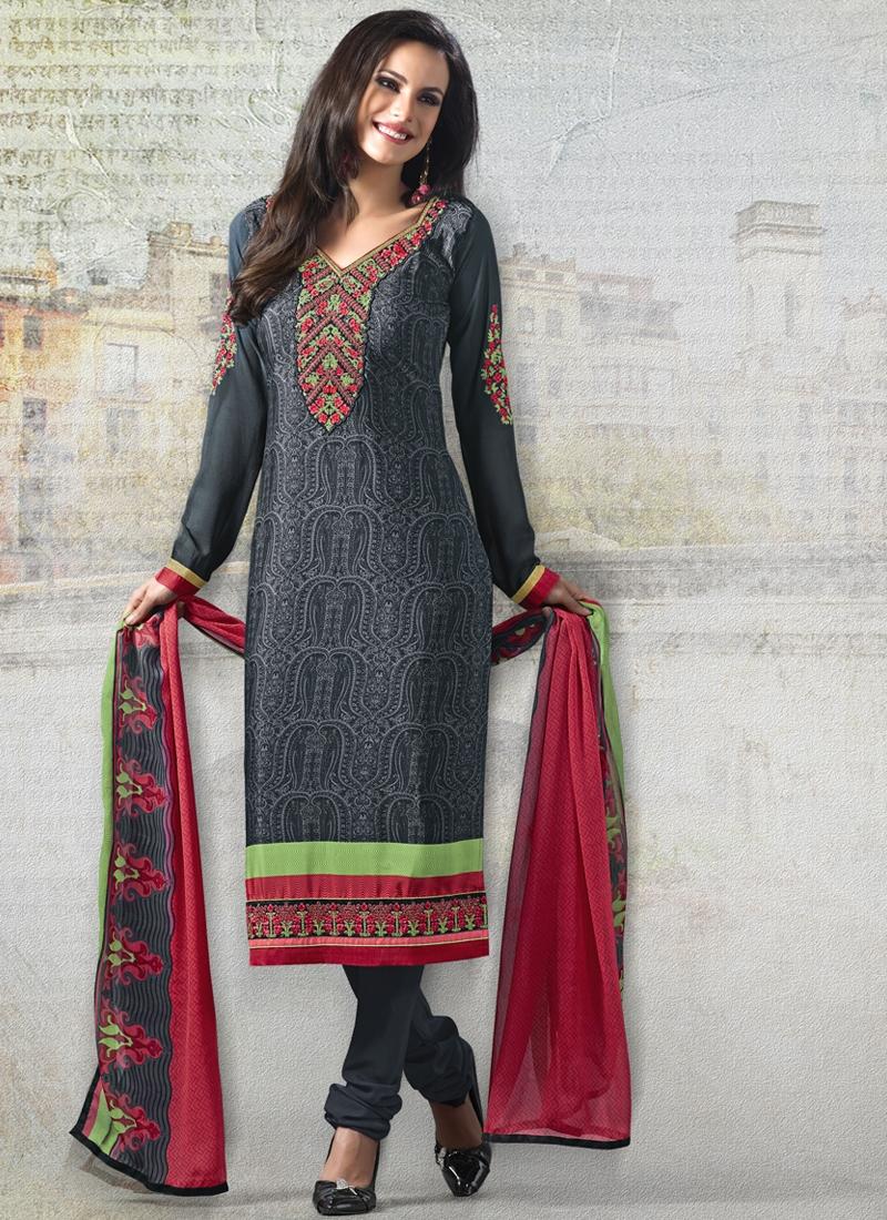 Gorgonize Digital Print Work Churidar Salwar Suit